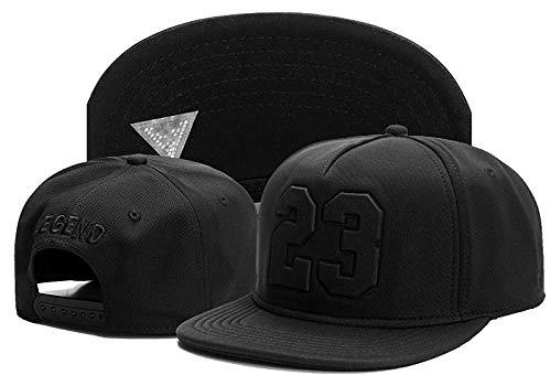 BOIPEEI Gorra Letter 23 Black Hip Hop Snapback Hat para Hombres, Mujeres, Adultos, Baloncesto al Aire Libre, Gorra de béisbol Informal para el Sol, 1 Uds.