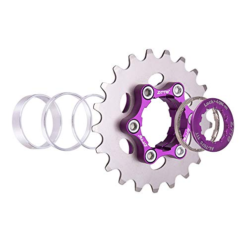 Bibike Single Speed Fixie Cassette 16T/17T/18T/19T/20T/21T/22T/23T Fixed Gear Conversion Kit Compatible with Shimano Sram