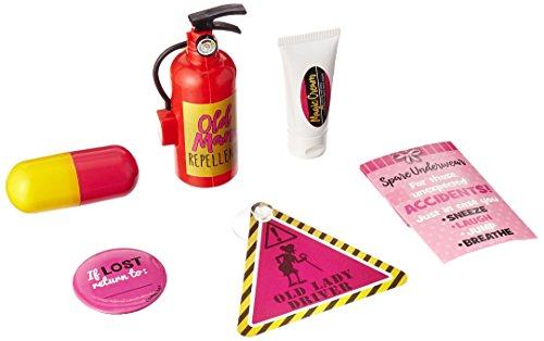 amscan 210485/A - Kit de supervivencia para mujer, color negro y rosa