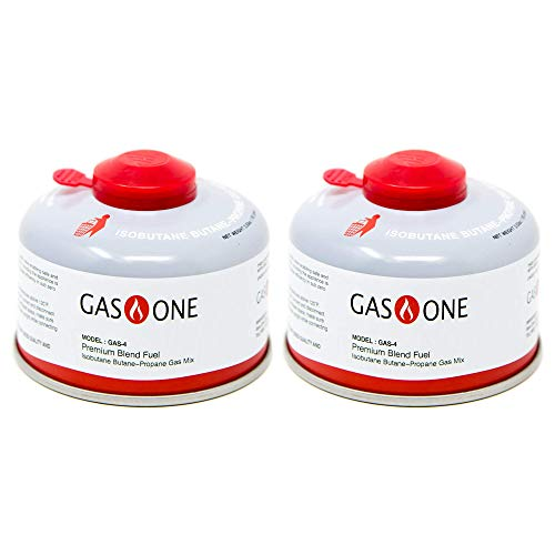 GasOne Camping Fuel Blend Isobutane Fuel Canister 100g (2 Pack)