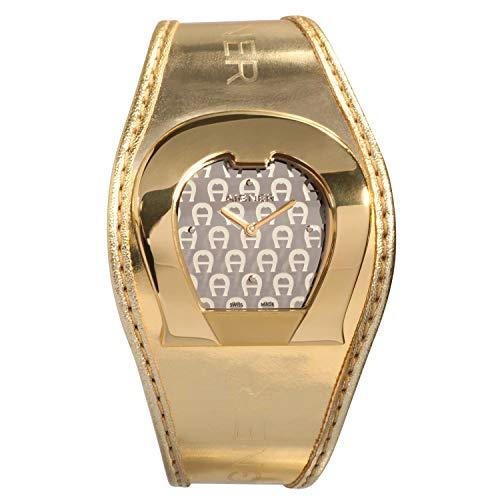 Orig. AIGNER Damenuhr Uhr A41213 LEDER gold UVP:549,-€ NEU 8457