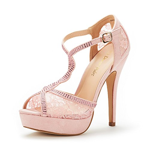 DREAM PAIRS Mujer Zapatos de Tacon Aguja Vestir Fiesta Boda Plataforma Sandalias