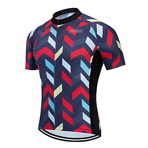 Hombres Ciclismo Jersey Manga Corta Ciclismo Jersey Mountain Bike Ropa Maillot Ciclismo, Hombre, N.º 3., XL