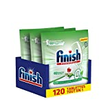 Finish Pastilles Lave-Vaisselle Powerball All in One 0% - 120 Tablettes Lave-Vaisselle (3x40 Tablettes)