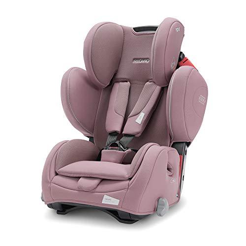 Recaro Kids, Young Sport Hero Kindersitz, Auto Kindersitz (9-36 kg), Gruppe 1-2-3, Komfort und Sicherheit, Universeller Einbau, Verstellbar, Patent Hero Sicherheitssystem, Prime Pale Rose