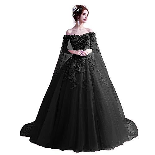 Off the Shoulder Cinderella Wedding Dress With Cape