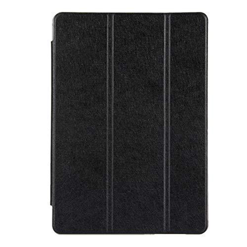Liluyao Más Casos para Tableta Huawei MediaPad T3 10 9.6 Pulgadas Silk Textura Horizontal Flip Funda de Cuero con Soporte Plegable 3 (Color : Black)