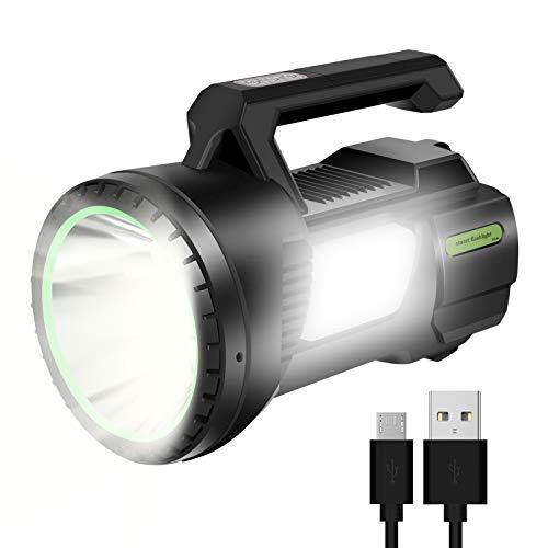 Eletorot linterna led recargable luz camping reflector impermeable luz linterna brillante 6000mAh linterna banco de energía Portátil Linterna de Cámpin para Pesca, Cámping, Emergencia
