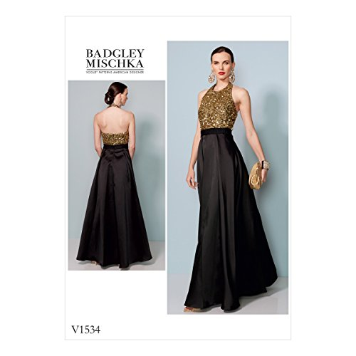 Vogue Patterns Schnittmuster Kleid, Mehrfarbig, Größen 6–14