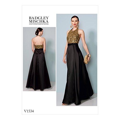 Vogue Patterns satiné Robes pour Femme, Multicolore, Tailles 14–22