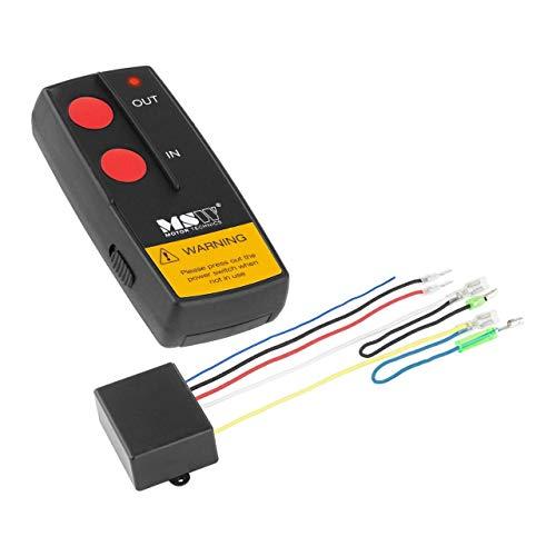 MSW Fernbedienung für elektrische Seilwinde Fernsteuerung MSW-WR1 (Reichweite 30 m, inkl. 1x 23A 12V Batterie, ON/Off Lichtanzeige, kompatibel mit PROPULLATOR 2000-B / 3500-B)