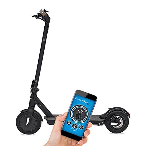 """SmartGyro Baggio 10 V4 - Patinete Eléctrico Scooter de Batería, Motor de 500W, App para Smartphone, Ruedas de 10"""" Neumáticas, Plegable, Batería de 8.8 Ah"""