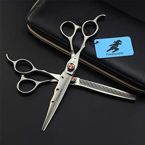 Panpan Professionnel Ciseaux en Acier Inoxydable gaucher Barber Coiffure Texturizing Salon Rasoir Scissor Set 7 Pouces avec Tension réglable Vis