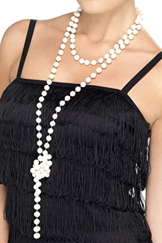 SMIFFYS Smiffy's Collana di Perle, 180cm / 71inLunghezza Panasonic Lumix Dc-Zs200 Tz200 Ev Donna, Bianco, Taglia Unica, 22515