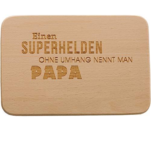 Spruchreif PREMIUM QUALITÄT 100% EMOTIONAL Tabla de desayuno con grabado · Tabla de pan con frases · Gran idea de regalo para papá · Regalo de cumpleaños para papá