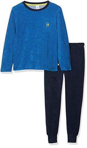 Sanetta Jungen Pyjama Long Zweiteiliger Schlafanzug, Blau (Ocean Blue 50181.0), 104