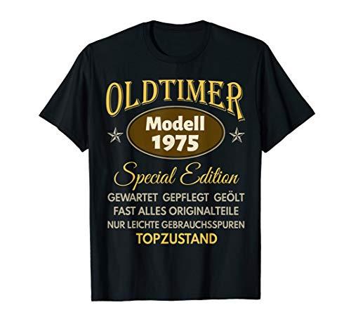 45. Geburtstag Mann Frau Geschenk Oldtimer Jahrgang 1975 T-Shirt
