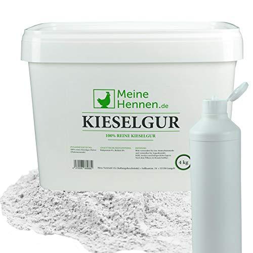 Meine Hennen (EUR 5,00/ kg) Kieselgur - 4 kg im 16,6 Liter Eimer mit Puderflasche - Natürliche Diatomeenerde