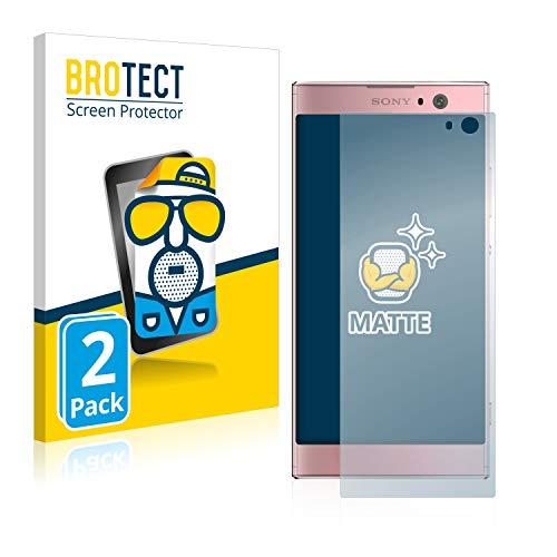 BROTECT 2X Entspiegelungs-Schutzfolie kompatibel mit Sony Xperia XA2 / XA2 Dual Bildschirmschutz-Folie Matt, Anti-Reflex, Anti-Fingerprint