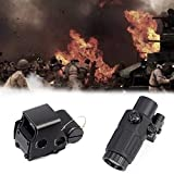LB LIFBETTER 558 Holographic Sight witg G33 Magnifying Glass,Quick Release Holographic Rollover Multiplier