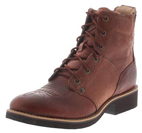 Twisted X Boots Dames Cowboy laarzen 1739 Cognac paardrijlaarzen leren laarzen bruin incl. Schoendeo