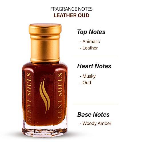 Scent Souls Leather Oud Long Lasting Attar Fragrance Perfume Oil For Men & Women- 3 ml