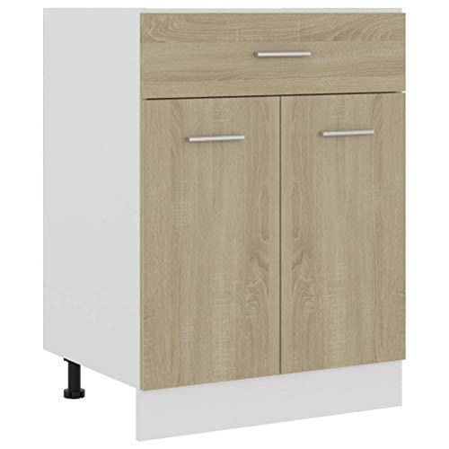vidaXL Armario de Cocina Mobiliario Muebles Duradero Mesa de Trabajo Almacenamiento Cuencos...
