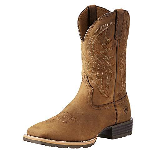 Ariat Men's Hybrid Rancher Western Boot, Distressed Brown, 10.5