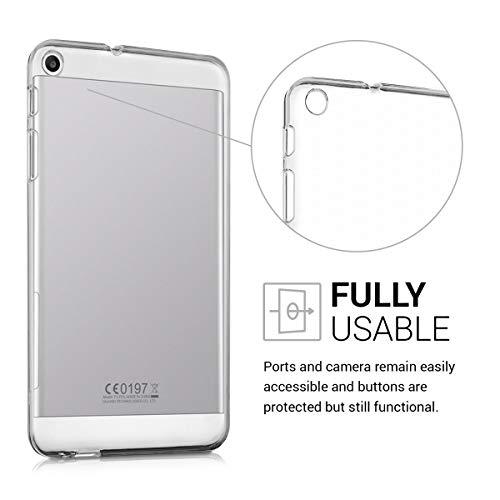 kwmobile Huawei MediaPad T1 7.0 Hülle - Silikon Tablet Cover Case Schutzhülle für Huawei MediaPad T1 7.0 - Transparent - 4