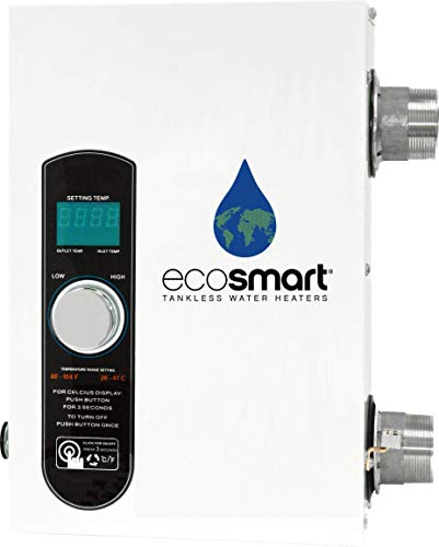 EcoSmart Electric Tankless Pool Heater with Self Modulating Technology – 27kW, 240 Volt, 112.5 Amps