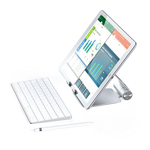 Satechi R1 Aluminum Multi-Angle Foldable Tablet Stand - Compatible with 2020/2018 iPad Pro, 2020 iPad Air, iPhone 12 Pro Max/12 Mini/12, 11 Pro Max/11 Pro, Xs Max/XS/XR/X, 8 Plus/8 (Silver) Photo #5