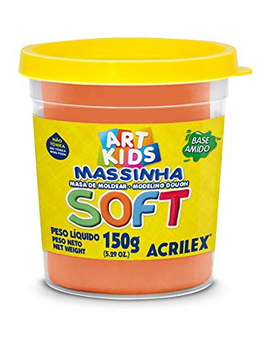 Massa de Modelar Soft Acrilex Laranja 150 g