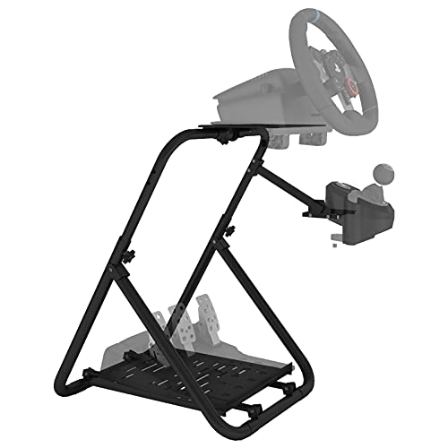 DIWANGUS Racing Steering Wheel Stand Collapsible Tilt-Adjustable Racing Stand for Thrustmaster,Logitech G25 G27 G29 G920 Supporting TX Xbox PS4 PS5 PC (Wheel&Pedals Not Included)