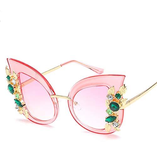 THJM Gafas De Sol De Ojo De Gato De Moda Con Marco Personalizado Gafas De Sol De Marco Grande 15X13.6CM