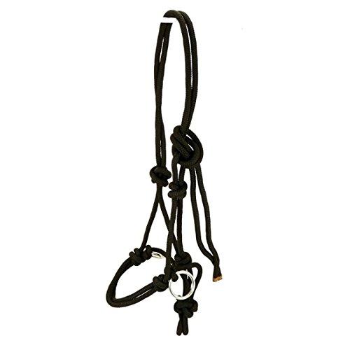 Thor Equine Knotenhalfter mit Ringen aus Edelstahl Halter Reiten Bodenarbeit schwarz Warmblut/Full