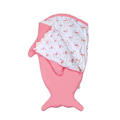 L-SLWI Schlafsäcke, Baby Decken, Steppdecken, Kick-Proof, Baby Hai Schlafsäcke, Baumwolle Nette Neugeborene,Rosa