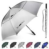 Gonex Golf Umbrella Windproof 62/68 inch Automatic Open Large Stick Umbrella Men Women, Double Canopy, Sun Protection