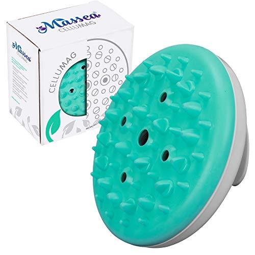 Massea CelluMag Anti Cellulite Massagebürste mit Magneten gegen Orangenhaut. Für straffe Haut, Massage, Wellness und Beauty (Türkis)