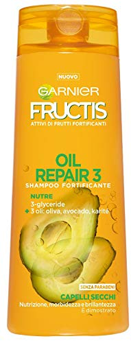 Garnier Fructis Shampoo für trockenes Haar Oil Repair 3mit Olivenöl, Avocado und Sheabutter, ohne Parabene, 250ml–1Packungen mit 2Einheiten