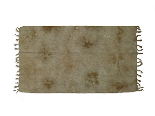 Soleil d'Ocre 401014 Tie and Dye Fouta Coton Taupe 150 x 80 cm