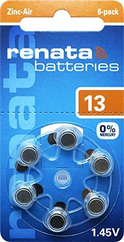 30x Renata Gr. 13 Hörgerätebatterien 5X 6er Blister PR48 Orange 1,45V ZA13.DP6