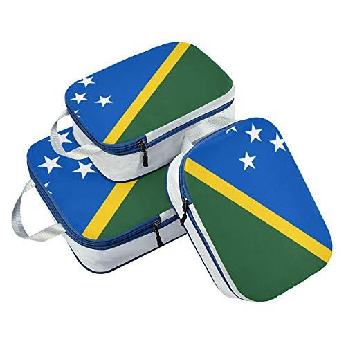 Banderas de las Islas Salomón, 3 cubos de embalaje, organiz
