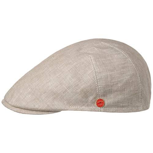Mayser Sidney Leinen Flatcap Schirmmütze Schiebermütze Leinencap (57 cm - beige)