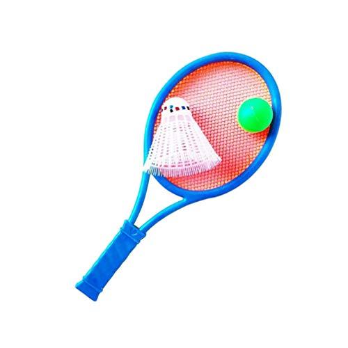 BESPORTBLE, kit iniciante de raquete de tênis infantil com bolas, raquete de tênis leve para pais e filhos, brinquedos de esportes ao ar livre para crianças iniciantes (cor aleatória)