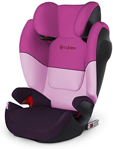 Cybex Silla de coche grupo 2/3, Solution M-Fix SL, Para coches con y sin Isofix, Grupo 2/3 (15-36 kg), Desde los 3 hasta los 12 años, Morado (Purple Rain)
