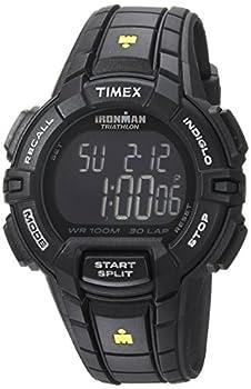 Timex Men s TW5M15900 Ironman Rugged 30 Full-Size Black/Yellow Resin Strap Watch