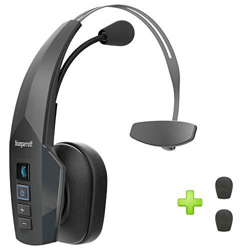 BlueParrott B350-XT Bluetooth Headset 204260, IP54 Rated - Moisture, Dust Proof, Extra Mic Cushions, Trucker Bluetooth Headset, Audifonos Bluetooth Inalambricos de Blue Parrott