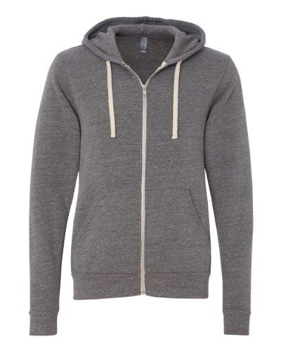Unisex Triblend Full Zip Hoodie - Farbe: Grey Triblend - Größe: L