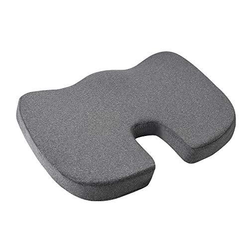 AmazonBasics - Cojin viscoelastico para asiento, gris, diseno en U