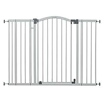 Summer Infant Extra Tall & Extra Wide Safety Gate 29.5 - 53 Inch Wide & 38  Tall for Doorways & Stairways with Auto-Close & Hold-Open Grey